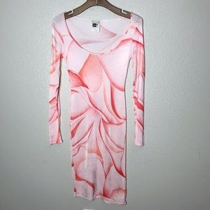 Versus Versace Printed Scoop Neck Midi Dress